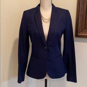 H&M Navy Linen Blazer